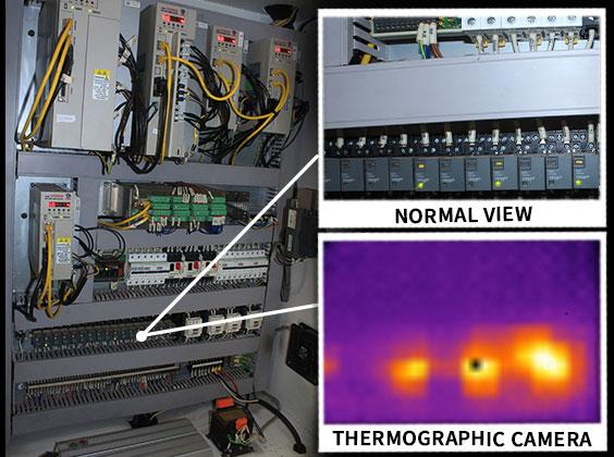 Phantom thermographic camera view