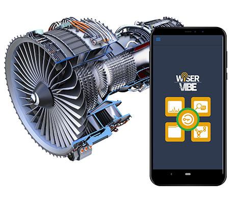 Vibration Analysis App loggo and main screen